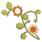 """Bigz Die """"Vine w/Leaves & Flower"""