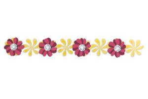 Decorative Strip WINDMIL DAISIES
