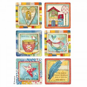 "Papier ryżowy  ""Patchwork Cards"""