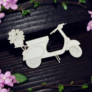 Scooter with the flowers