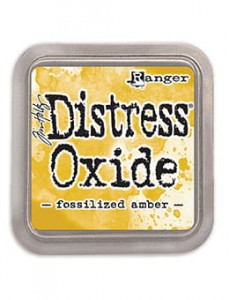 "Distress Oxide Pad ""Fossilized Amber"""