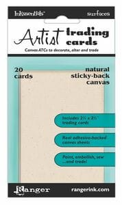 Sticky Back ATCs Primed Natural