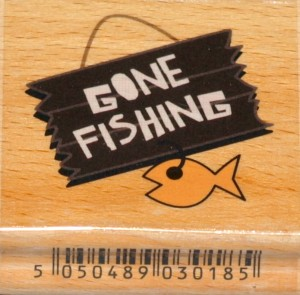 Stempel GONE FISHING