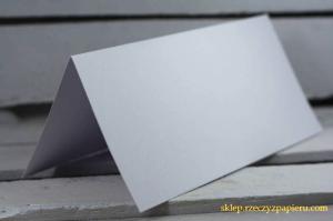 Baza do kartki biała DL