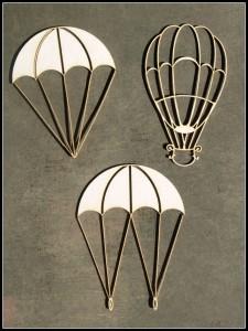 Obiekty latające (Spadochrony i balon)